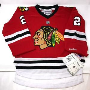 NWT-Reebok-NHL-Chicago-Red-Blackhawks-Duncan-Keith-2-Youth-Jersey-S-M