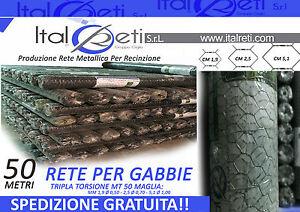 Rete-Tripla-Torsione-Polli-Metri-50-Maglia-19-2-25-3-51-6-H100-150-200-Trefort