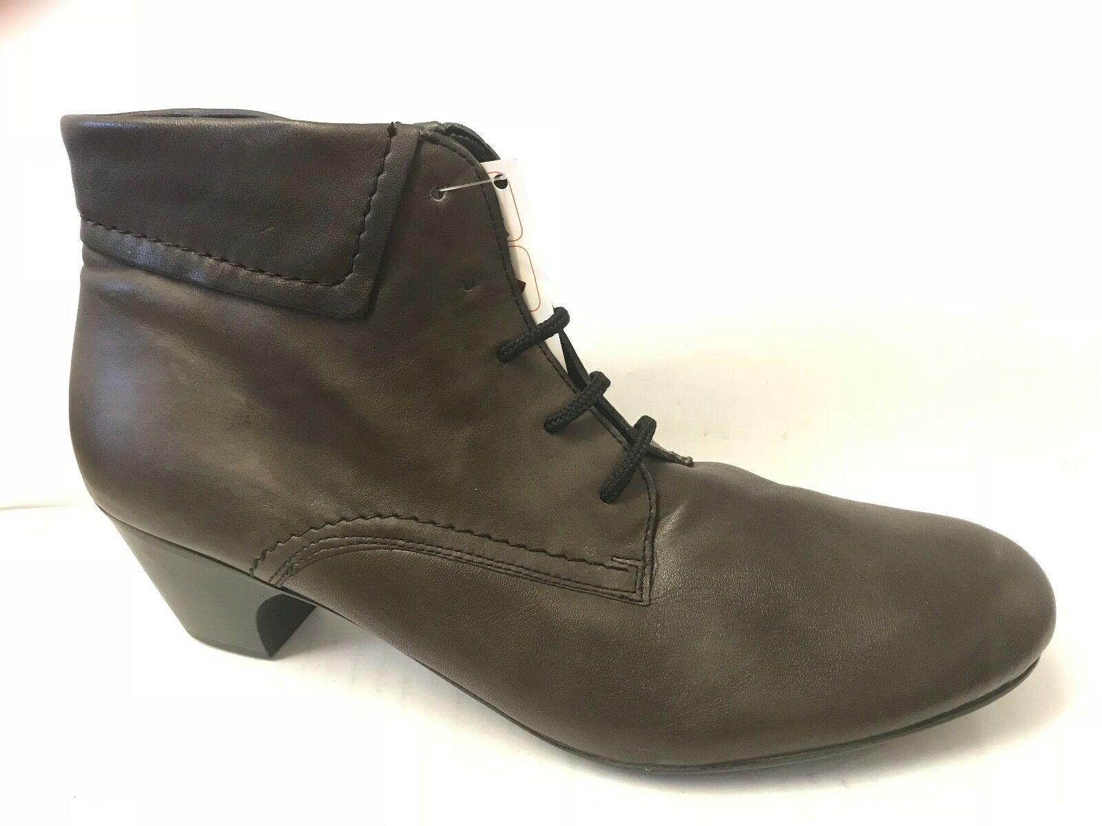 Rieker Sarah Womens Ladies  Brown Leather Lace Up Fleece Lining Heeled Boots