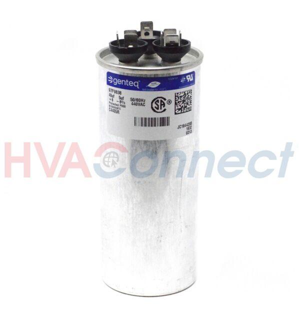 GE Genteq 40 5 uf 440 Volt VAC Dual Run Capacitor Z97F9838 97F9838