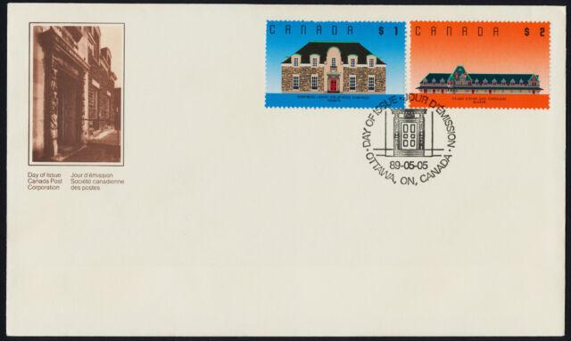 Canada 1181-2 on FDC - Runnymede Library, McAdam Railway Station
