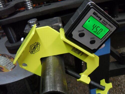 "Tube Bending Digital Angle Gauge Rotation Clamp//Bracket Plane of Bend .5-2.25/"""