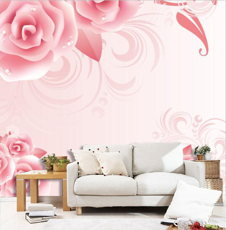 3D Flowers Dewdrops 2777 Paper Wall Print Wall Decal Wall Deco Indoor Murals