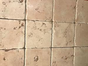 Piastrelle mosaico in pietra marmo rosa asiago per
