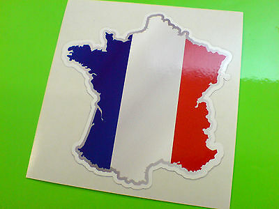 FRANCE Flag & Map Motorcycle Helmet Van Car Bumper Sticker Decal 1 off 80mm