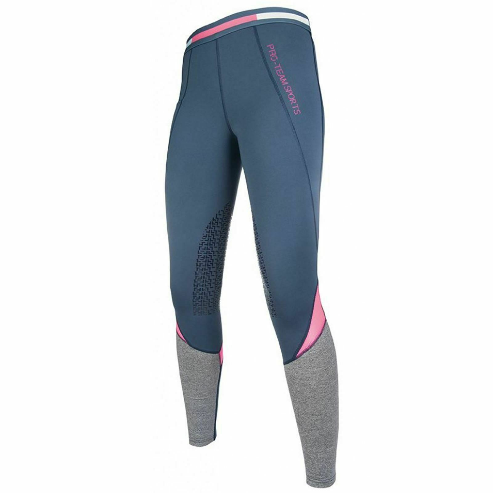 HKM Pro Team Active 19 Ladies Horse Riding Silicone Knee Stable Riding Leggings