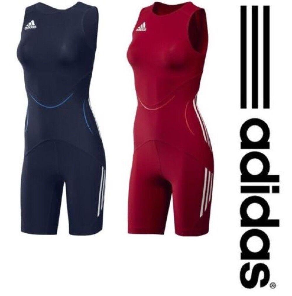 Adidas Womens Wrestling Singlet  Classic Weightlifting Suit blueeeeeeeee Red Uniform  outlet store