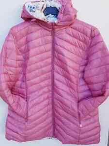 Damen Wendejacke große Größen Übergangsjacke M-3XL + ROT oder ROSA Jacke NEU