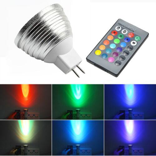 E14//E27 3W 16Colors LED RGB Magic spot Light Bulb Lamp Wireless Remote Control U