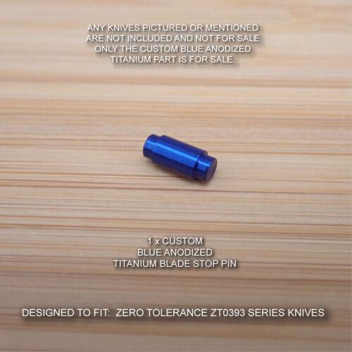 BLUE Zero Tolerance ZT0393 ZT 0393 393 Anodized Titanium Blade Stop Pin Spacer