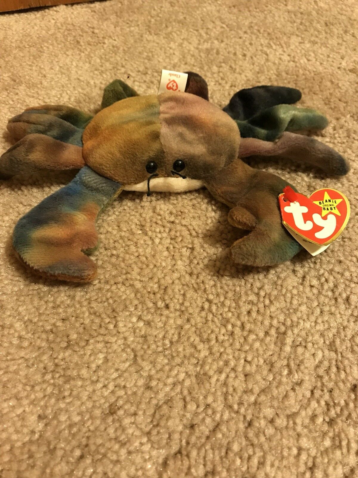 Claude - the crab beanie baby (RARE) Style 4083