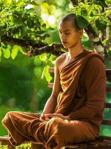 2.4 Yards Thai Buddhist Sabong Robe Lower Bottom Supply Meditation Clothe Monk free shipping