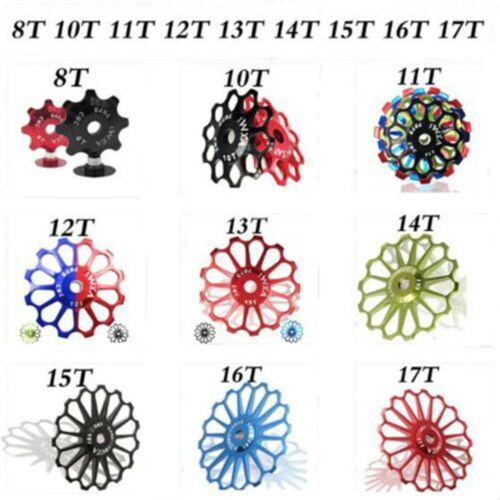 Derailleur Ceramic Bearing 8-17T Rear Pulley Jockey Wheel Bike Guide Roller