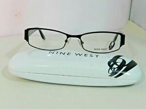Nine-West-Women-039-s-Eyeglass-Frames-Rectangle-Black-NW438-0003