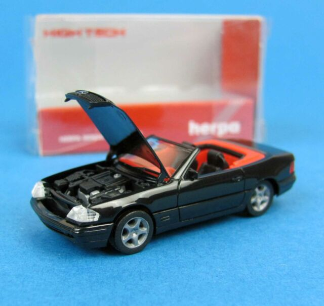 Herpa h0 025508 Mercedes-Benz SL 500 High Tech negro convertible MB ho 1:87 Box