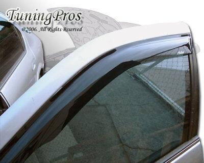TuningPros LGWV-067-6 Out-Channel Window Visor Deflector Rain Guard Light Grey 2-pc Set