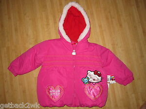 443cfd0ce NEW  HELLO KITTY JACKET COAT PINK FUR Trim  70 Toddler Girls 3 3T