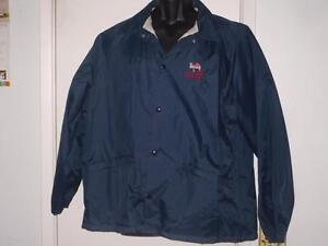 "PREOWNED RARE ""JOHN GARDNERS TENNIS RANCH WINDBREAKER"" XL, BLUE MADE IN U.S.A"