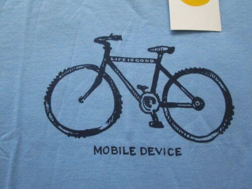 LIFE IS GOOD NWT Bike Bicycle Boys Blue SS Tee TShirt NEW Size Sz M Medium 7 8