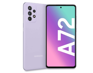 """SAMSUNG GALAXY A72 AWESOME VIOLET 128GB ROM 6GB RAM 4G/LTE ANDROID DISPLAY 6.7"""""""