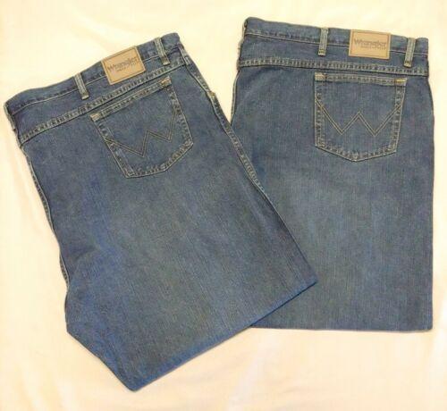 Details about  /Wrangler Rugged Wear 58X34 Mens Regular Fit Blue Denim Jeans Measure 58X30.5