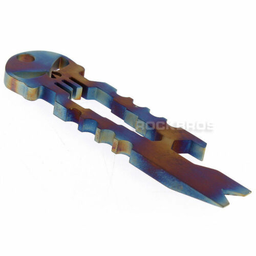 Rockbros Titanium Ti Multi-functional Survival Pocket Tool Key Chain Key Ring