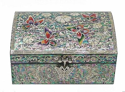 Lacquer ware inlaid new mother of pearl handcrafted jewelry,jewel box #0678