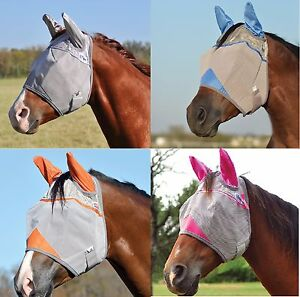 CASHEL CRUSADER Horse Fly Mask WITH EARS ALL SIZES COLORS ...