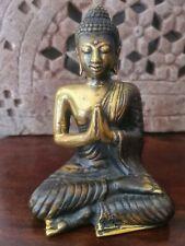 Buddha Figur Modern Neon Lila Buddhafigur Wara Mudra Kugel glänzend 19x10x9cm