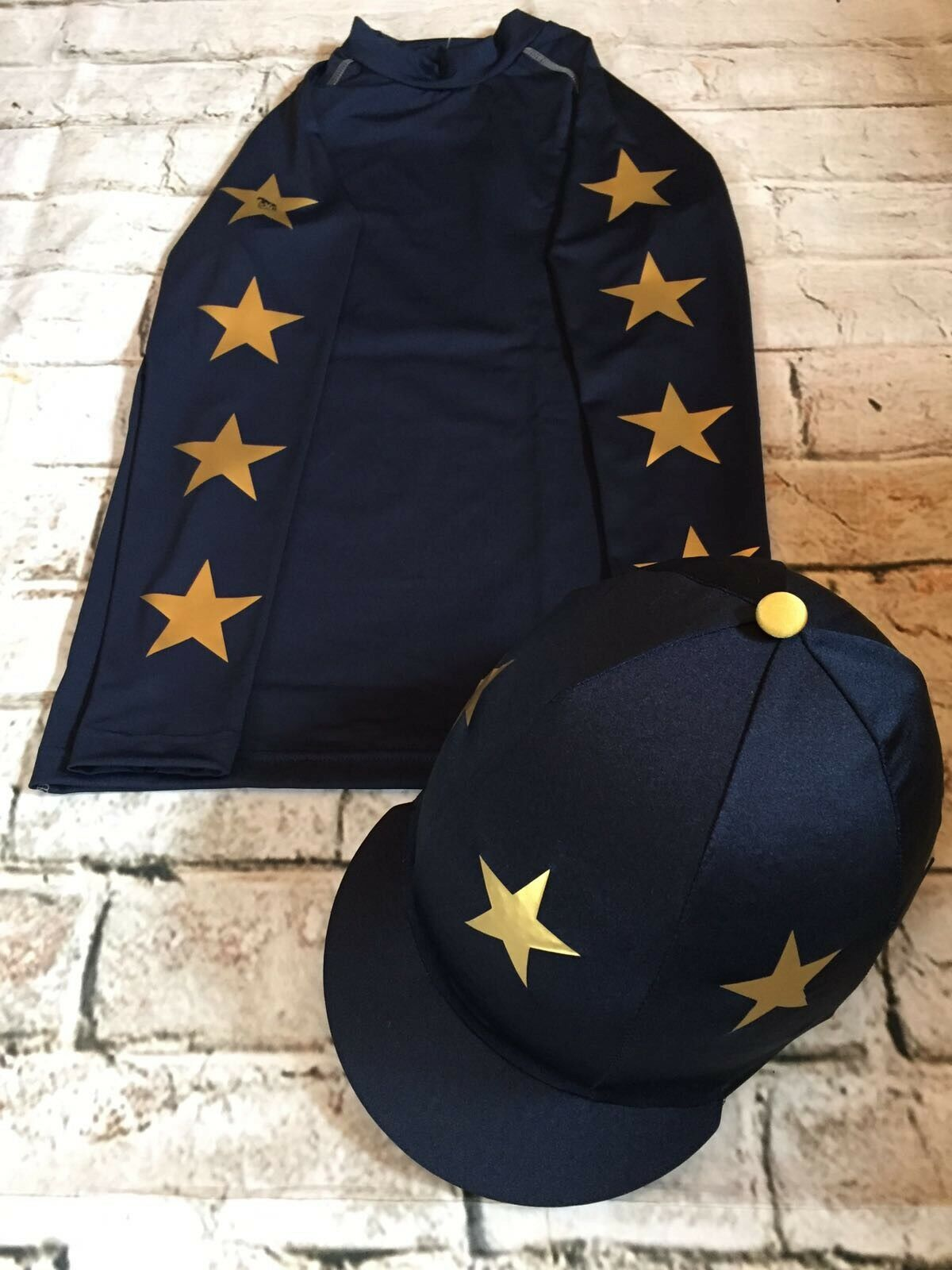 SXC Eco Stars Cross Country Colour XC Stars Eventing Hat Silk Cover Equestrian