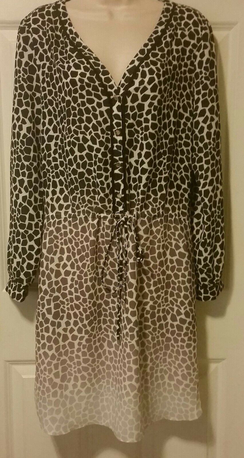 NWT Banana Republic SOLD OUT Animal Print Tri-ColGoldt hombre dress Sz 10 r.