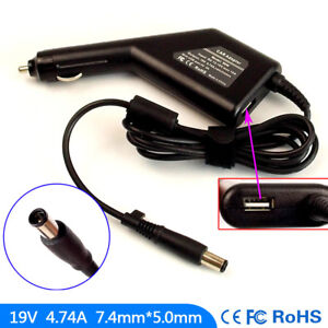 Laptop-DC-Adapter-Car-Charger-USB-Power-for-HP-Pavilion-DV7-4160SF-DV7-4161SF
