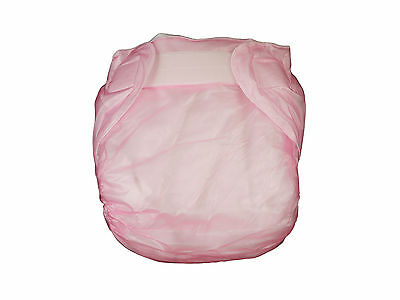 Adult baby Incontinence PVC Velcro diaper/nappy New #PDM01-5T
