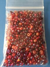 JABLONEX (R) Czech - Ruby Red Mix Seed Beads 6/0 LOOSE 3 Strands, GL & SL