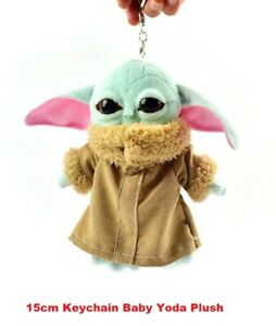 15cm-6-034-Keychain-Baby-Yoda-Plush-The-Mandalorian-Cute-Toy-Perfect-for-Gift