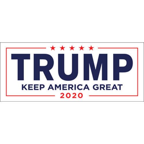 Donald Trump For President 2020 White Bumper Sticker Keep Make America Great