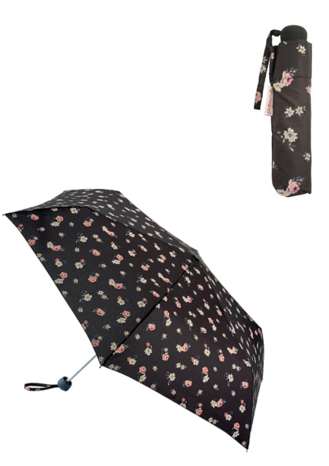 Cath Kidston Minilite Folding Umbrella Hampstead Ditsy Charcoal Colour