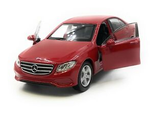 Voiture-miniature-MERCEDES-BENZ-e400-classe-E-berline-rouge-voiture-1-34-39-LGPL