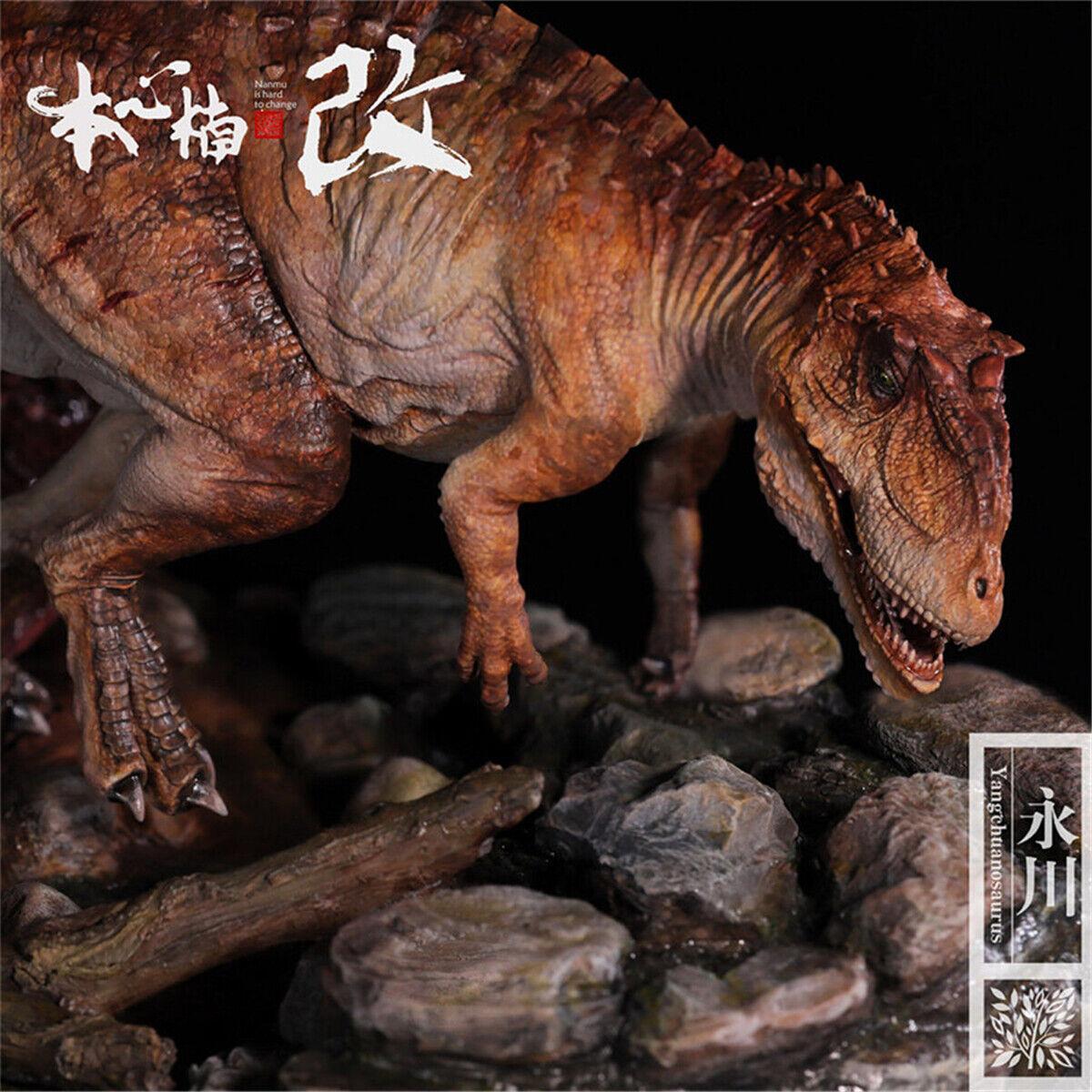 Nanmu Yangchuanosaurus caza Estatua Figura Dinosaurio Juguete Animal Tuojiangosaurus GK