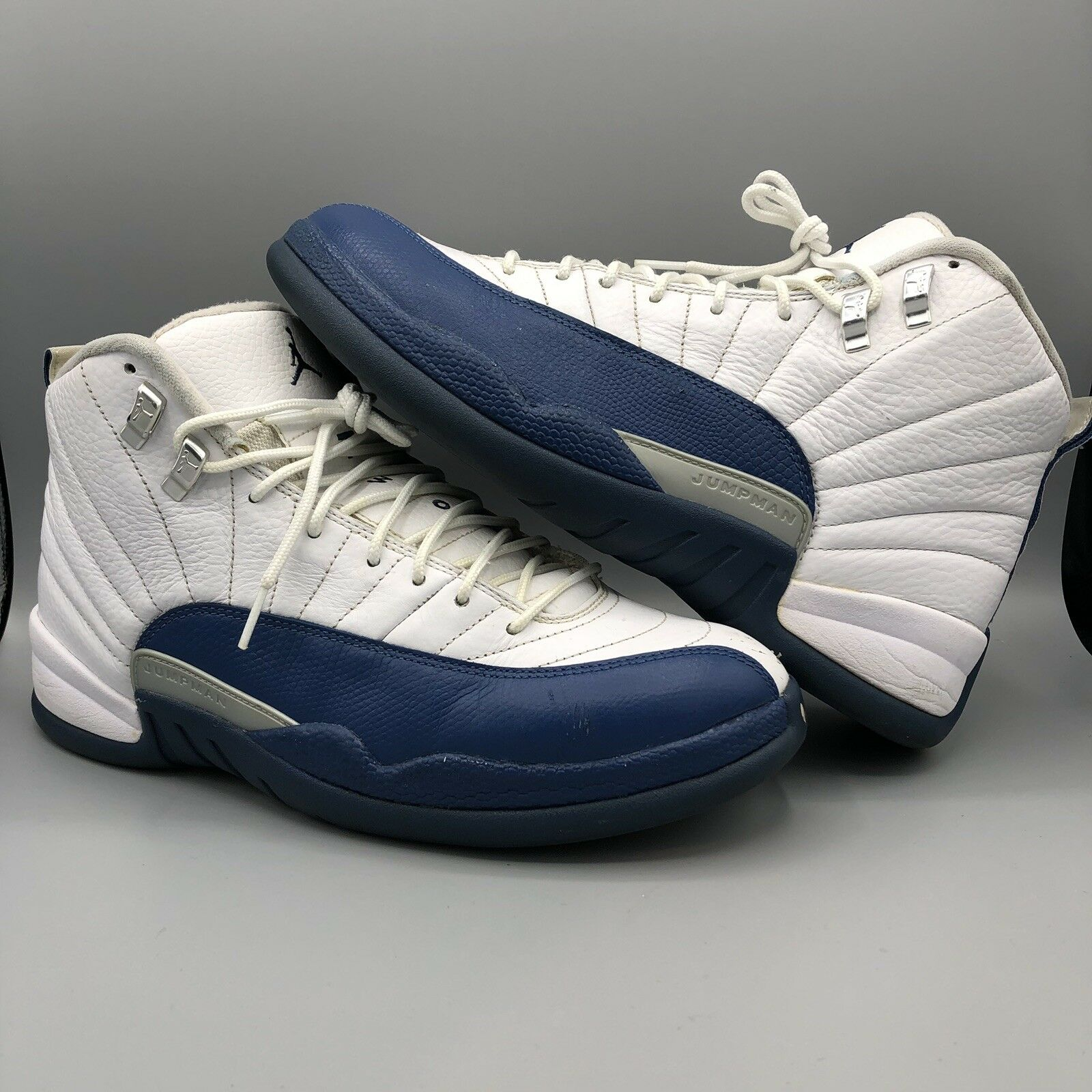 separation shoes 78a91 eaa4f Nike Air Jordan Retro XII French bluee 130690 113 113 113 Size 10 Taxi CDP  III