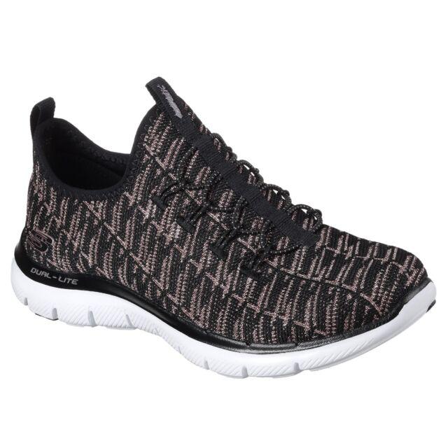 f9d41e950ad5 Skechers Women s Flex Appeal 2.0 Insight Sneaker Black Rose Gold 10 ...