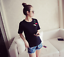Women-Summer-Round-Neck-Cherry-Embroidery-T-Shirt-Short-Sleeve-Casual-Loose-Tops thumbnail 1
