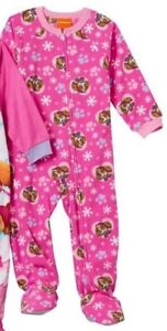 6c17f4fac2c8 Paw Patrol Girl s 4T Pink FOOTED Pajamas NeW Zip Fleece Footie Pjs ...