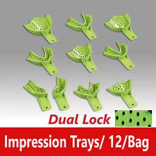 Dental Excellent Dualock Impression Trays Superior Retention Choose Size Bag12