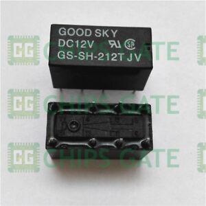 2PCS-GS-SH-212T-12VDC-DIP8-Relay