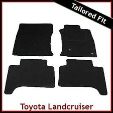 Toyota Land Cruiser Mk3 J120 2002 - 2009 a Medida Alfombra Alfombrillas De Coche Negro Equipada