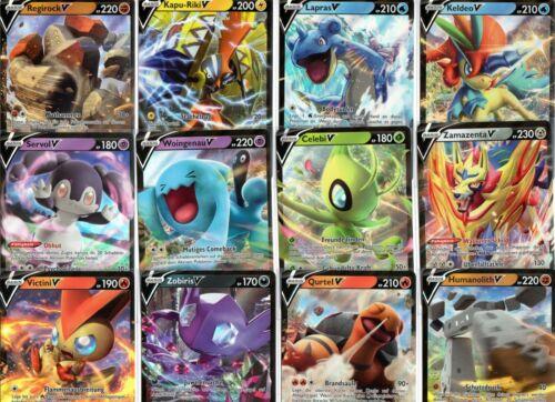 1 Seltene V GARANTIE 10x Deutsche Originale NEUE Pokemon Karten Sammlung inkl
