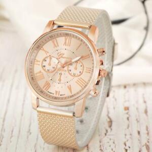 Elegant Women Watch Lady Dress Quartz Analog Wristwatch Alloy Band Strap Gift