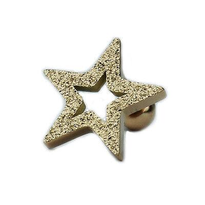 Rosegold Stern sandgetrahlt glitzer Ohr Helix Tragus Piercing Schmuck Stecker | eBay