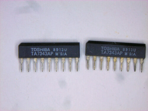 "TA7343AP  /""Original/"" Toshiba  9P SIP IC  2  pcs"